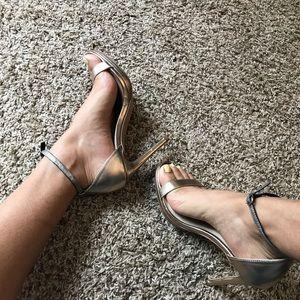 Steven Madden Rykie metal ankle strap heel